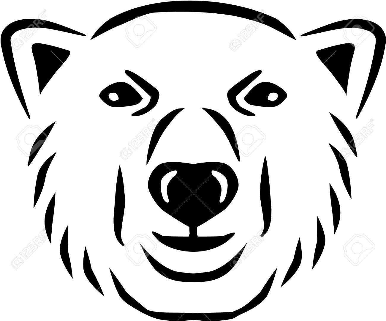 polar bear head royalty free cliparts vectors and stock