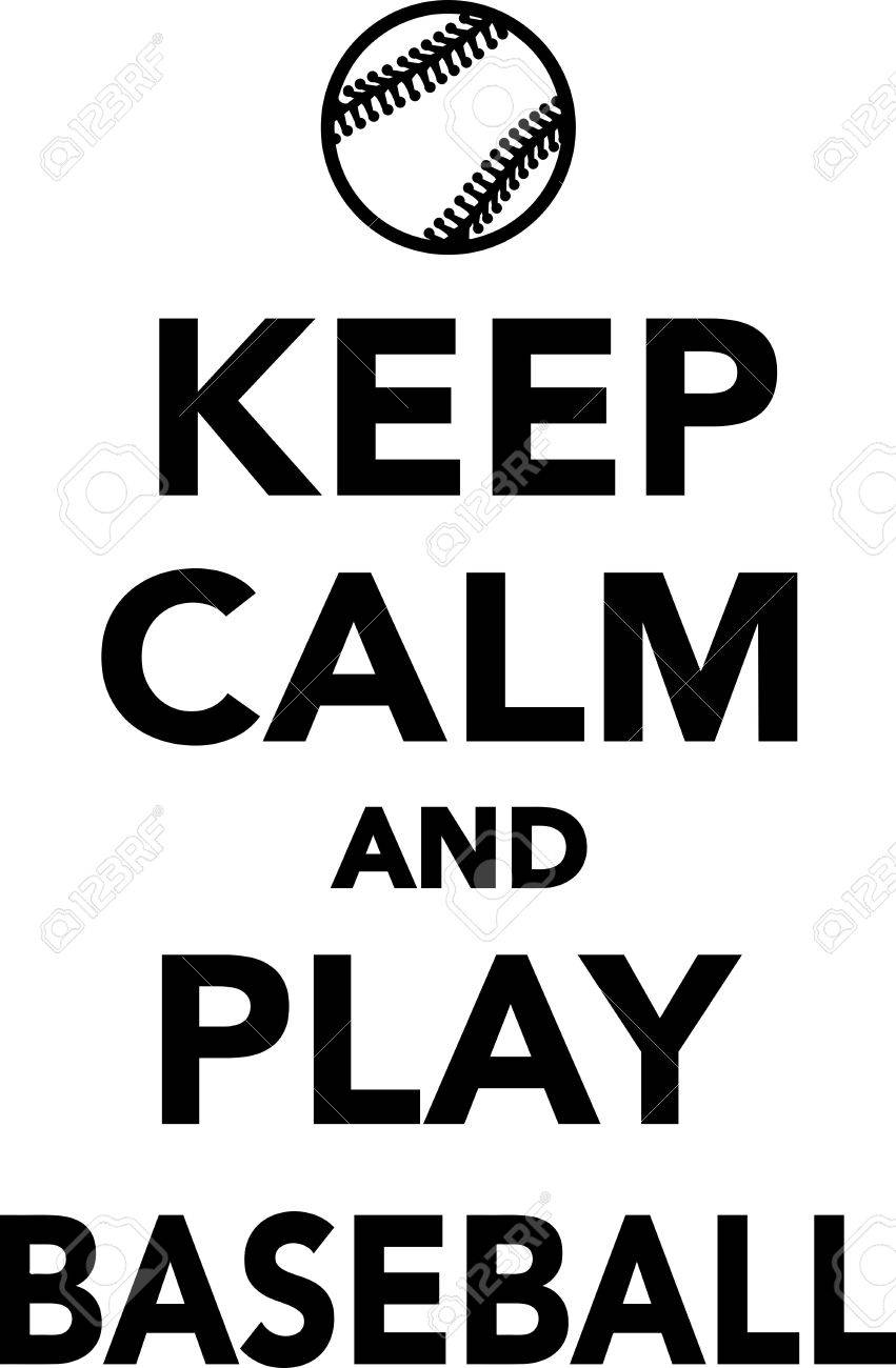 keep calm and play baseball royalty free cliparts vectors and rh 123rf com
