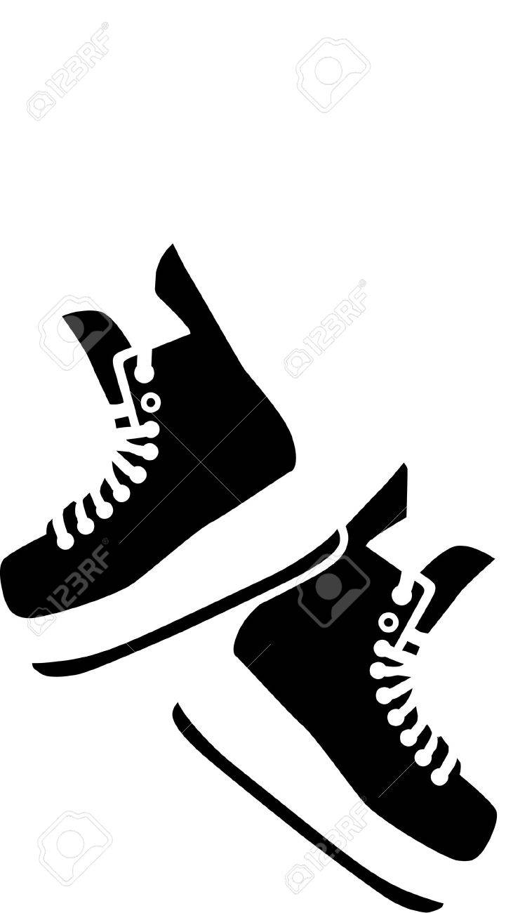 hanging hockey skates royalty free cliparts vectors and stock