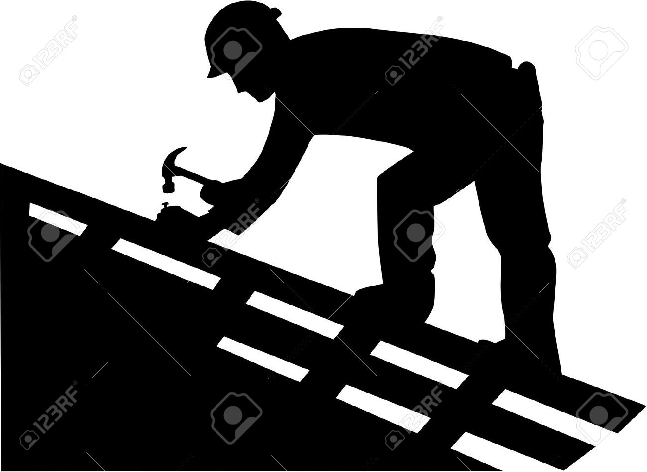 Roofer Vector Roofer Silhouette