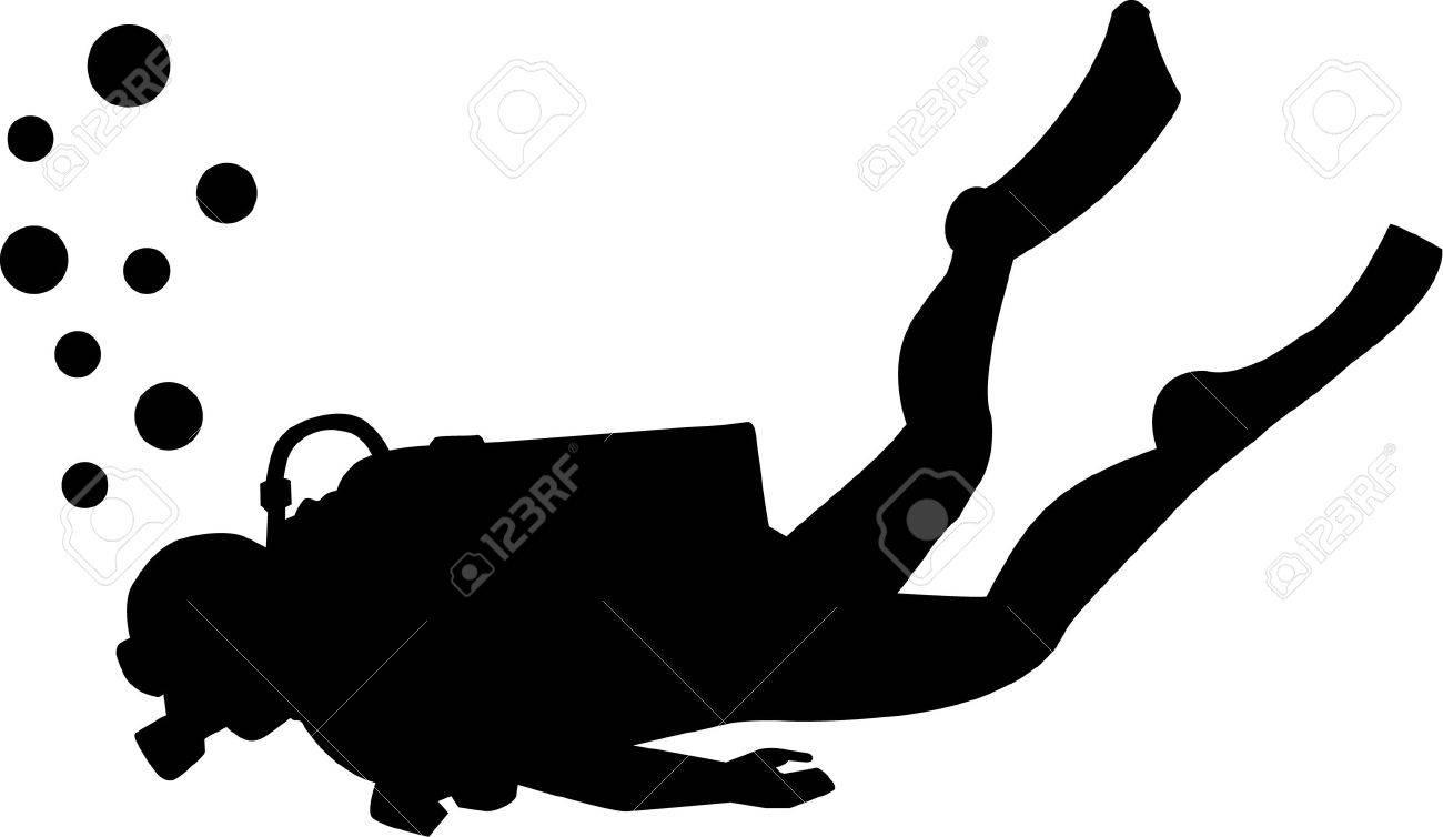 7944481f9e4b7 Scuba diving silhouette Stock Vector - 41493250