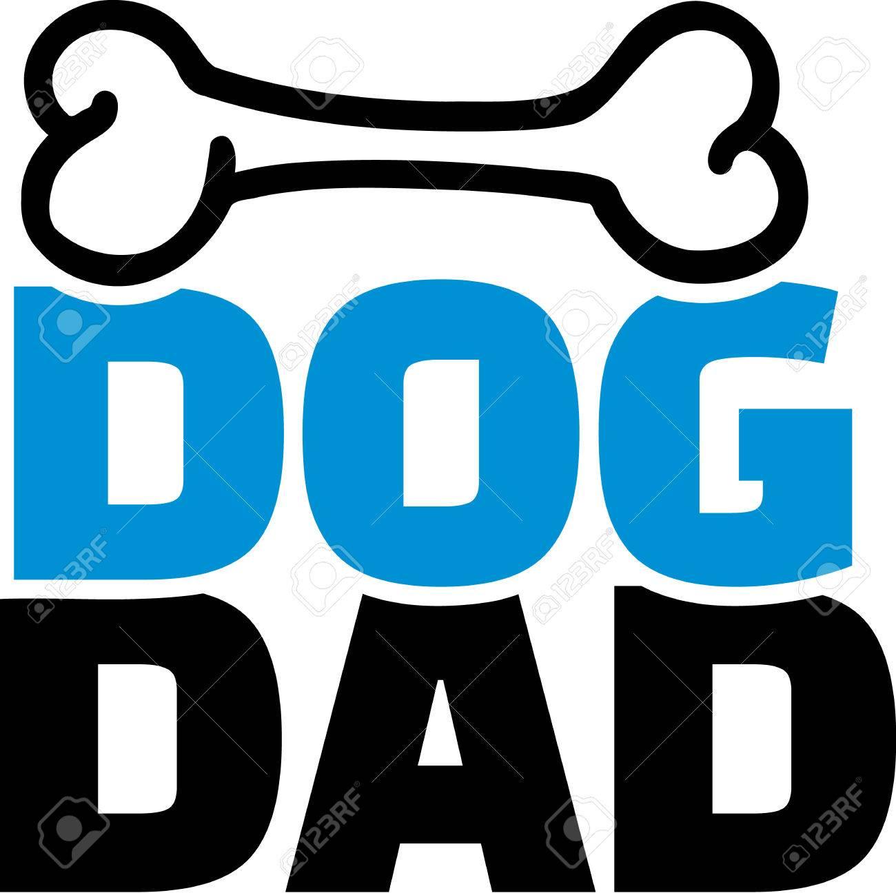 骨と犬のお父さんのイラスト素材ベクタ Image 41493285
