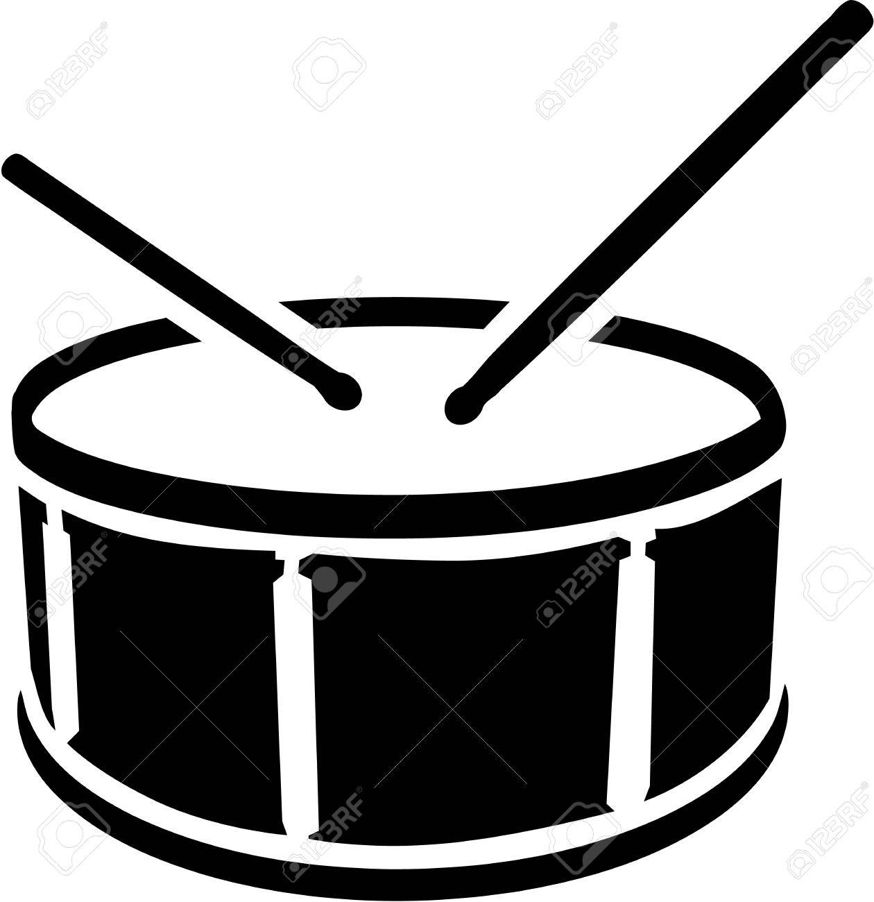 Drum symbol with sticks - 43622450