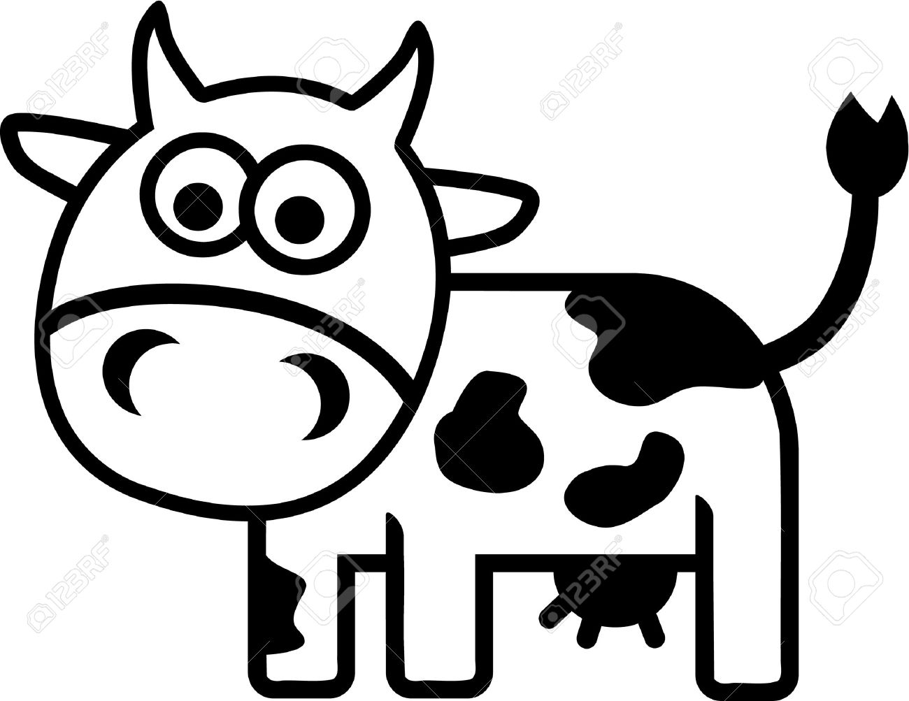 cow comic outline royalty free cliparts vectors and stock