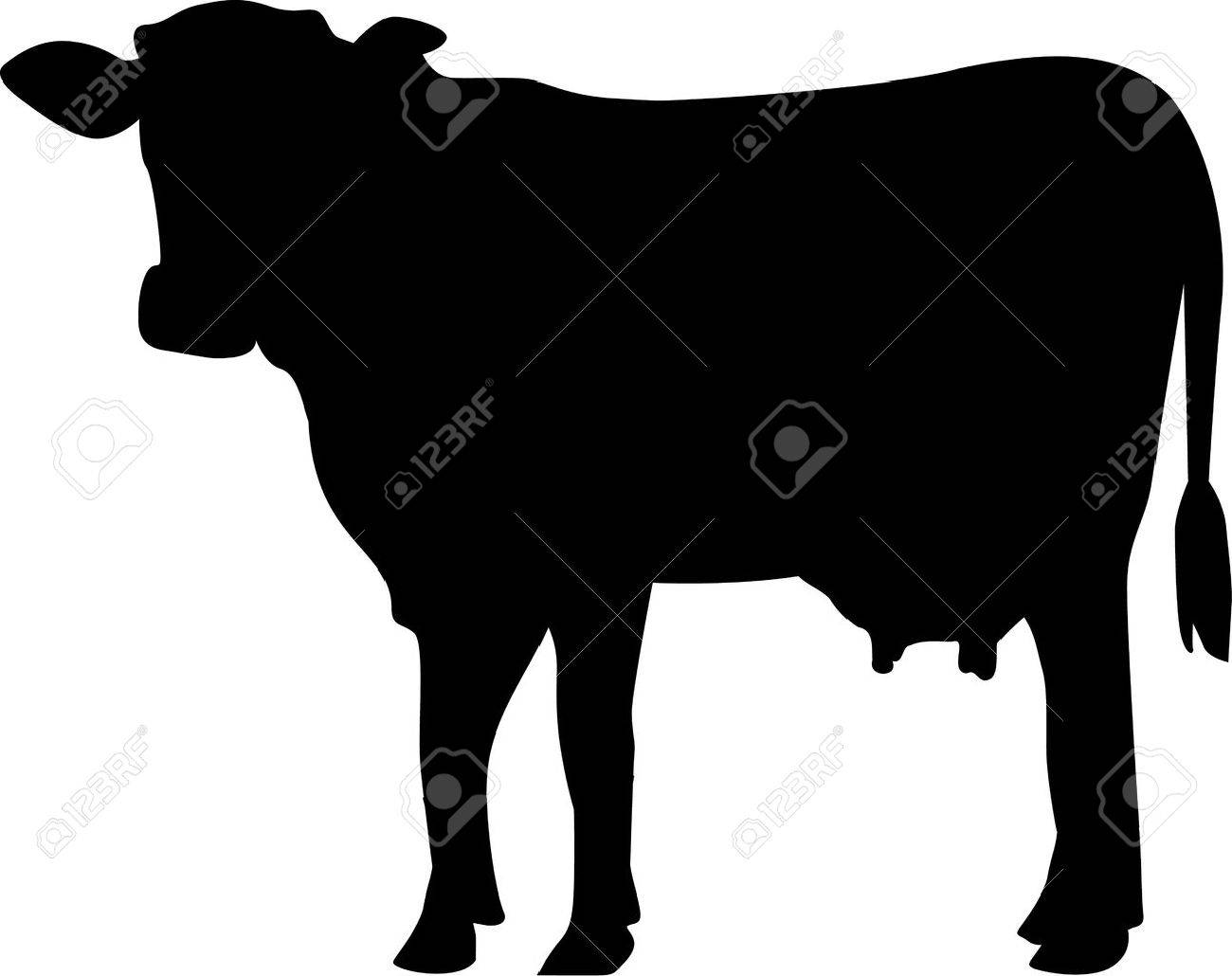 cow silhouette royalty free cliparts vectors and stock rh 123rf com cow silhouette vector free download