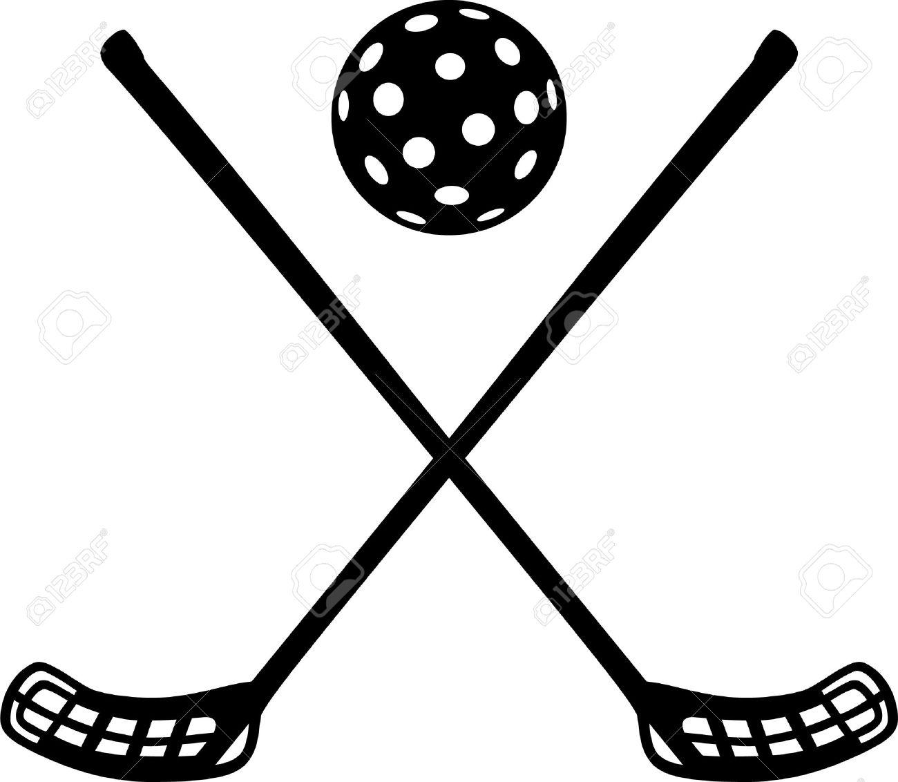 Floorball sticks with ball - 44786554