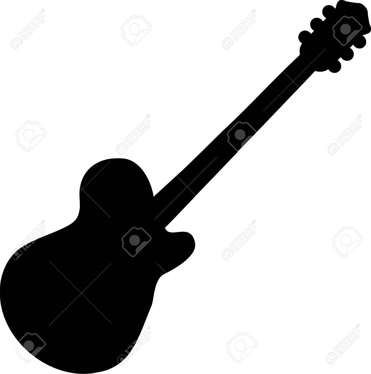 electric guitar silhouette royalty free cliparts vectors and stock