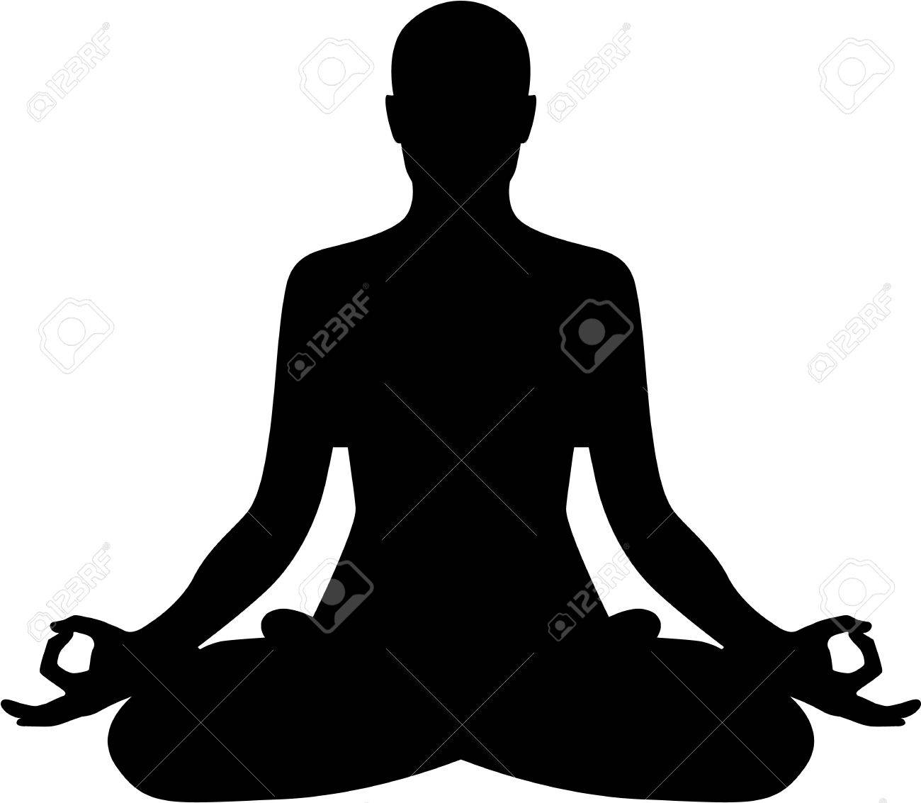 Meditation relaxation silhouette - 45479855