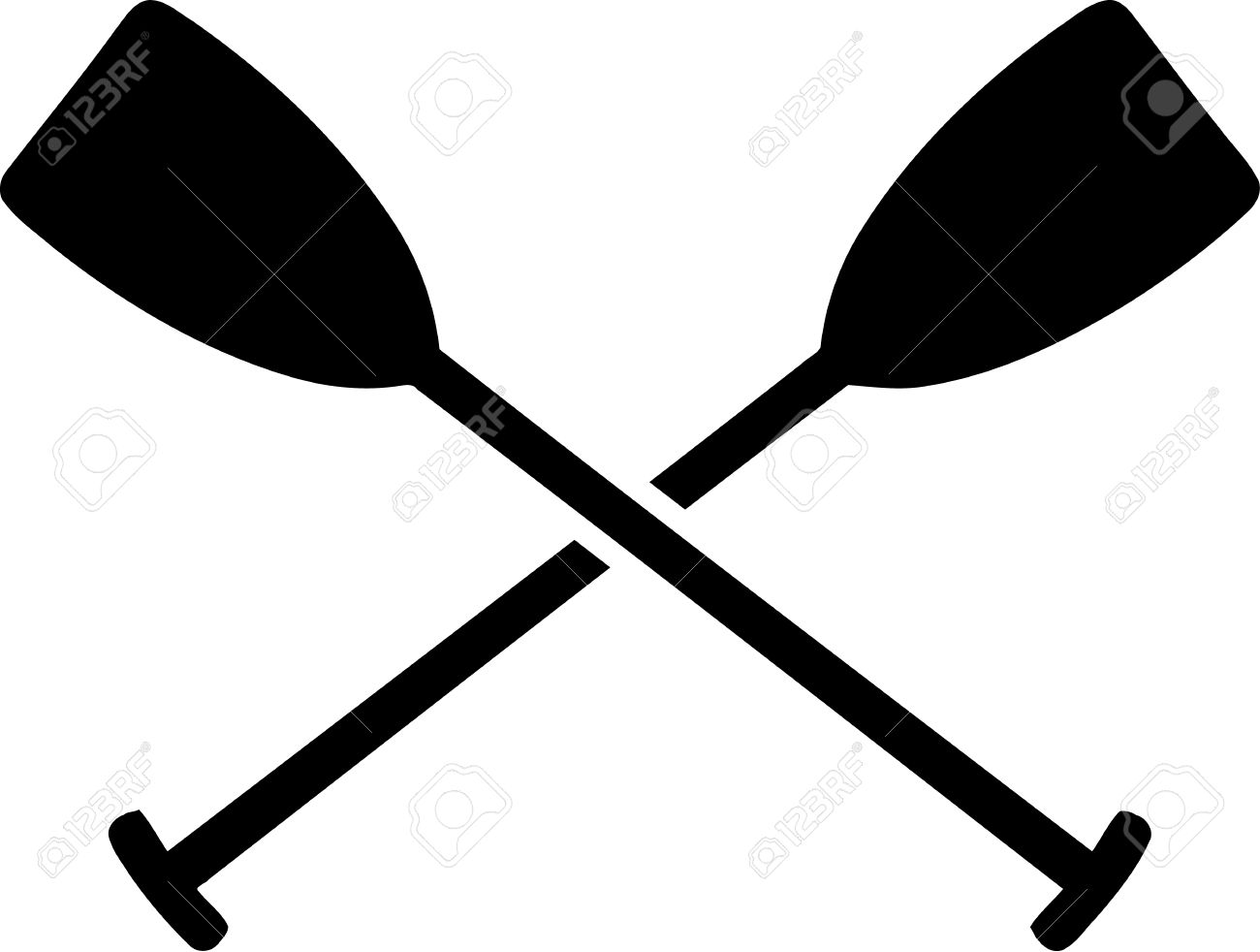 Paddles Crossed Royalty Free Cliparts Vectors And Stock