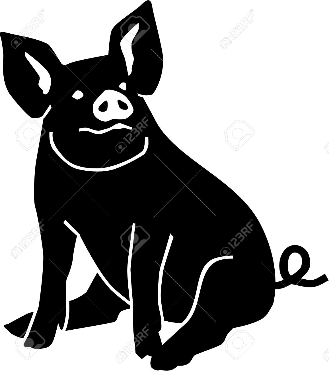 pig sitting royalty free cliparts vectors and stock illustration rh 123rf com pig vector free pig vector art free