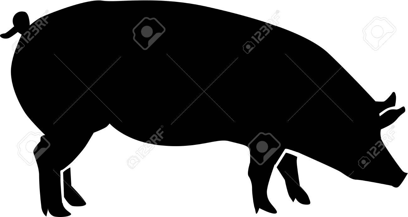 pig silhouette royalty free cliparts vectors and stock rh 123rf com pig silhouette vector free download pig silhouettes vector graphic