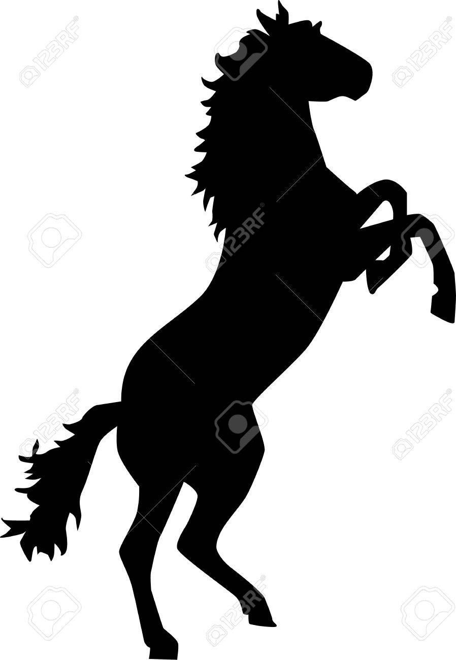 Horse rears up bronco stock vector 46556668
