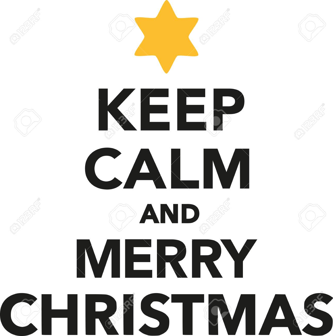 Keep Calm And Merry Christmas Royalty Free Cliparts, Vectors, And ...