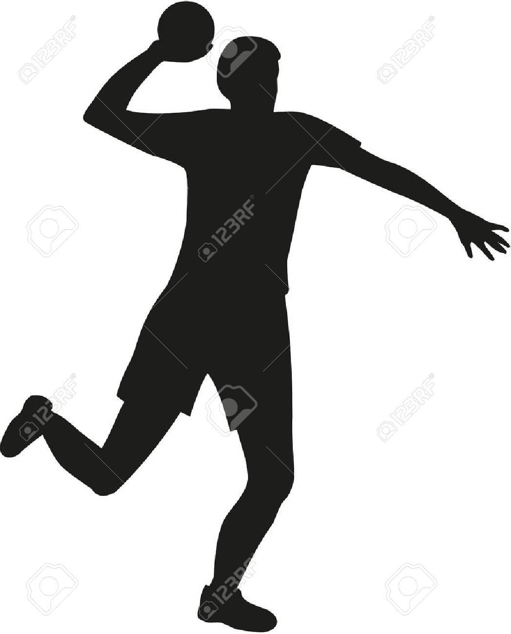 Dodgeball player throwing a ball - 49616276