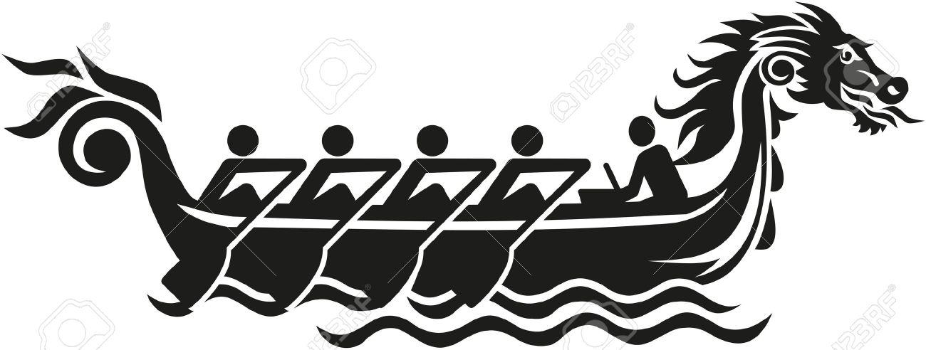 Dragon boat racing icon - 49616243
