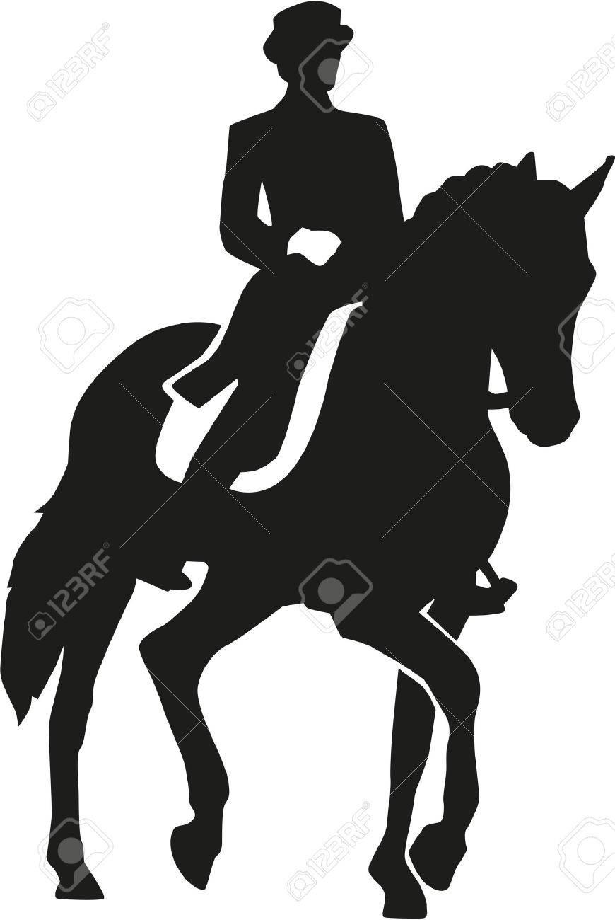 Rider riding a dressage horse - 49616125