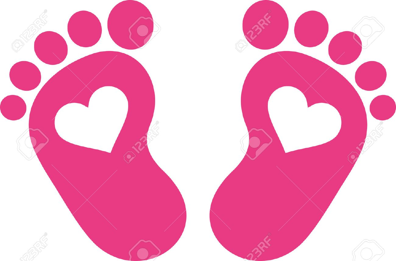 pink baby foot print with hearts royalty free cliparts vectors and rh 123rf com Broken Foot Clip Art heart football clipart free