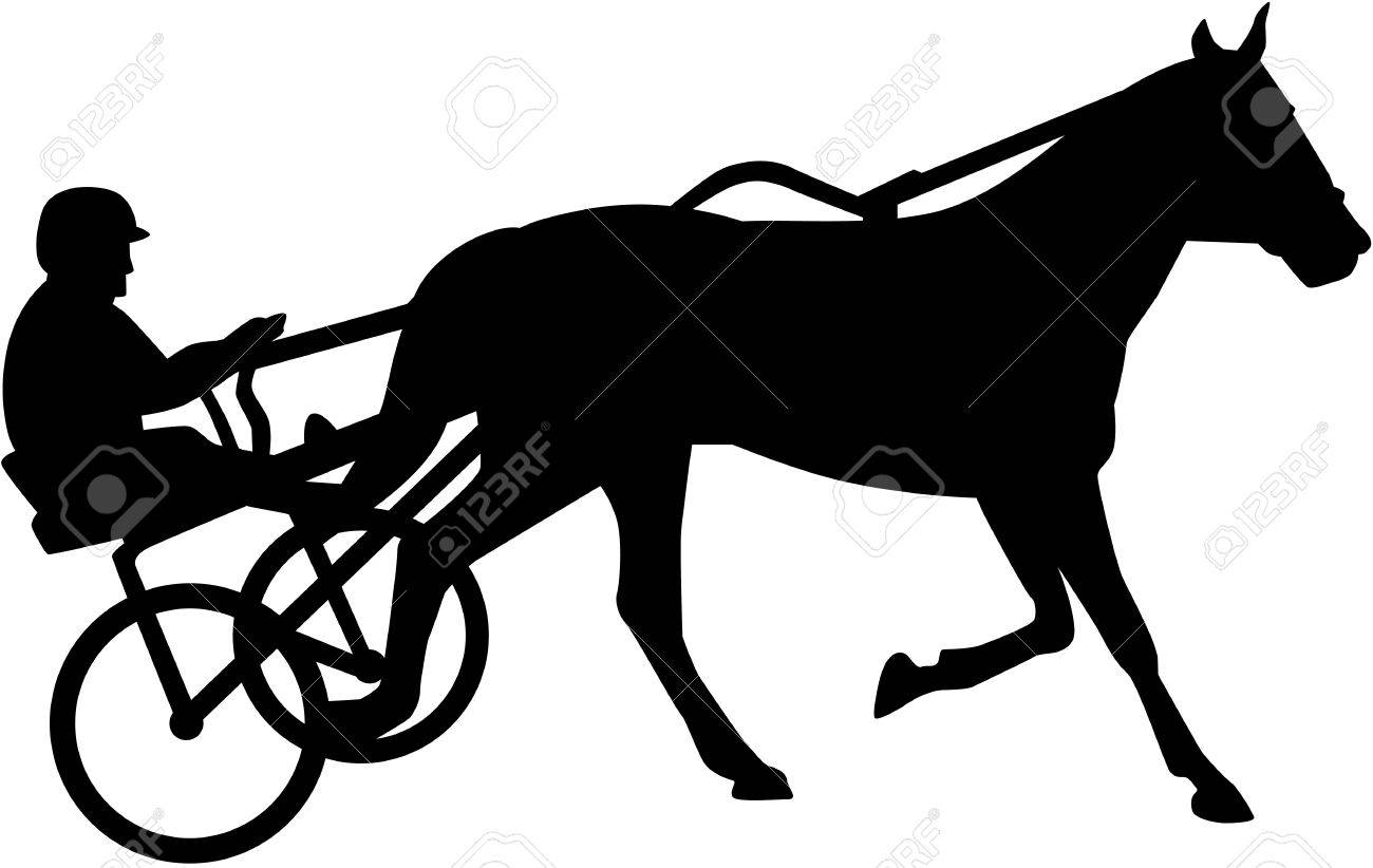 Harness racing silhouette - 51818793