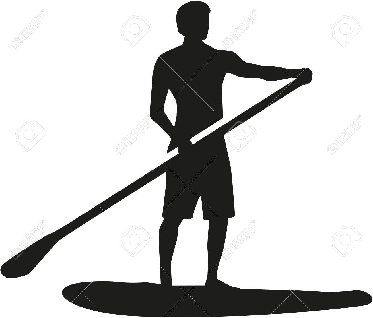 Stand up paddling silhouette - 52018936