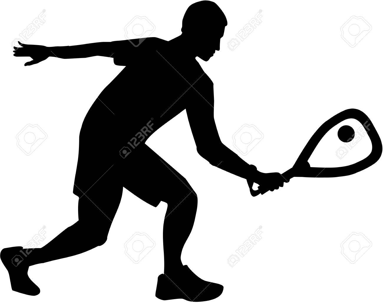 racquetball silhouette royalty free cliparts vectors and stock