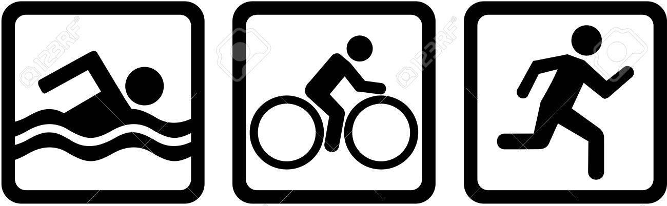 Triathlon triple swim bike run - 52371853
