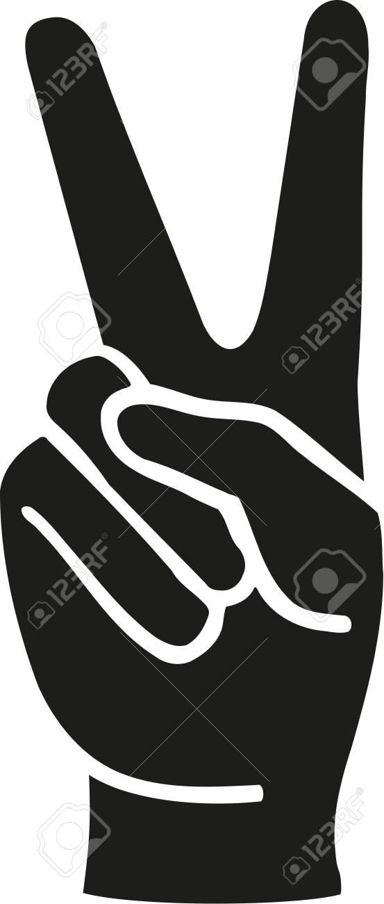 Peace Fingers Hand Royalty Free Cliparts Vectors And Stock