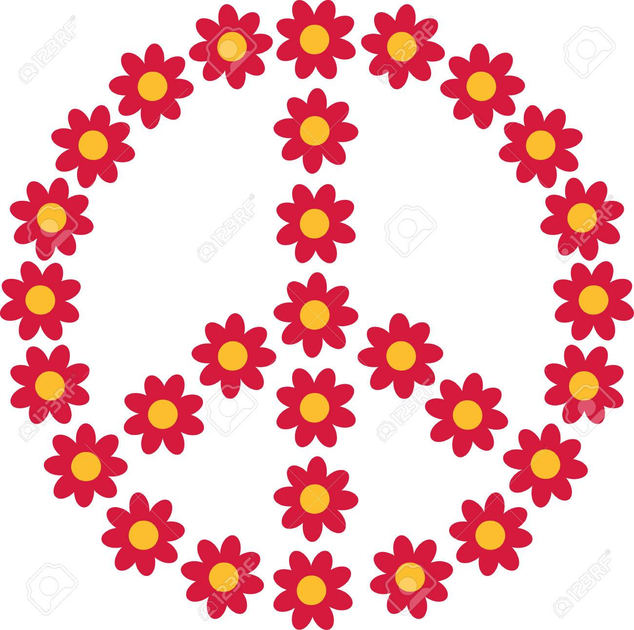 Flower Power Piece Sign Royalty Free Cliparts Vectors And Stock Illustration Image 53111225