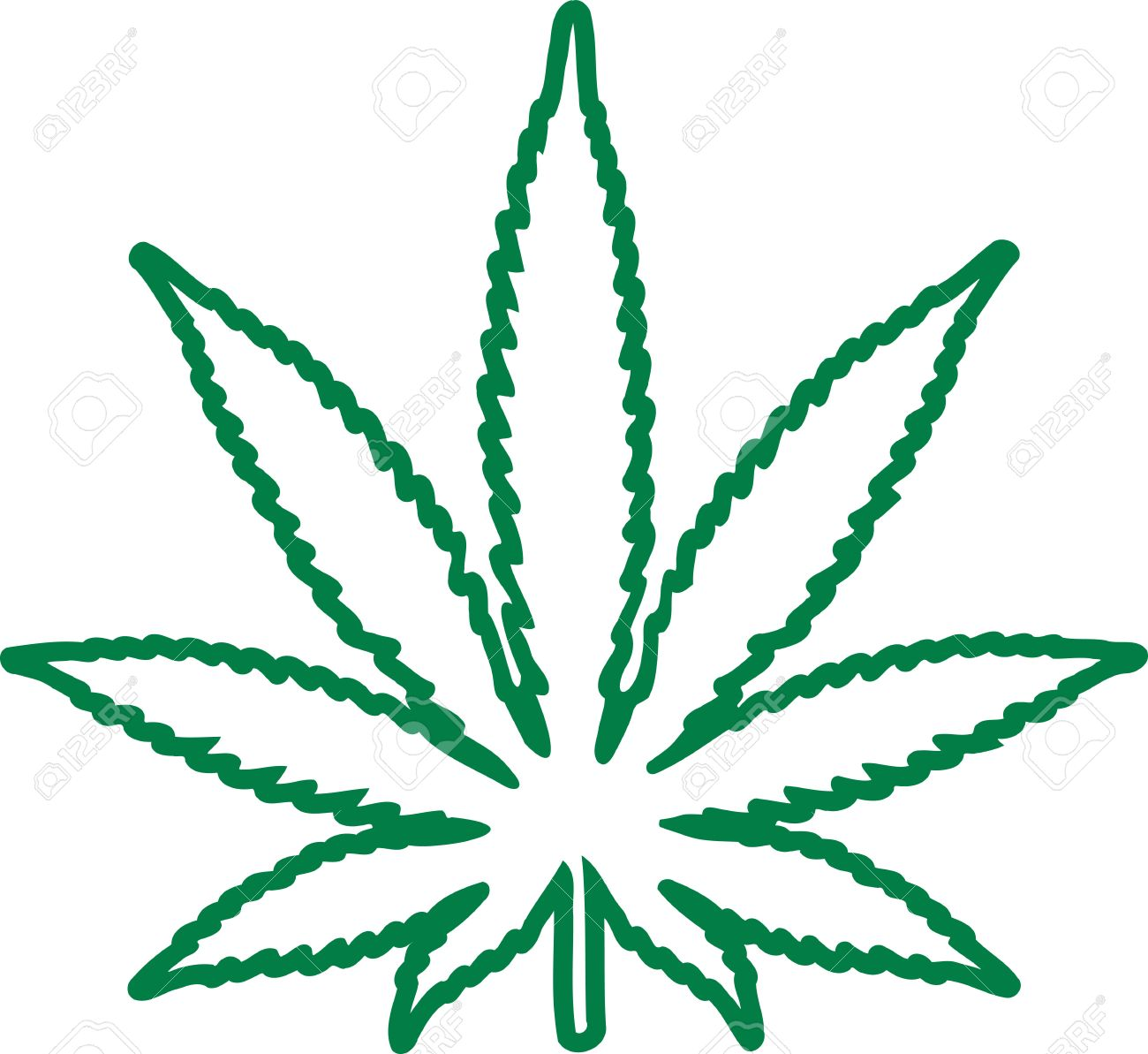 marijuana leaf outline royalty free cliparts vectors and stock rh 123rf com pot leaf vector free pot leaf logo vector