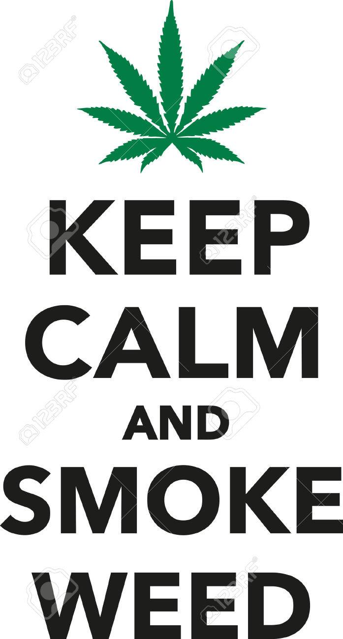 Keep Calm And Smoke Weed Marijuana Stock Vector