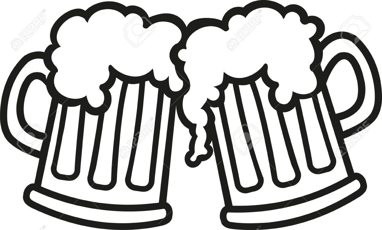 Beer mugs cartoon cheers - 54822563