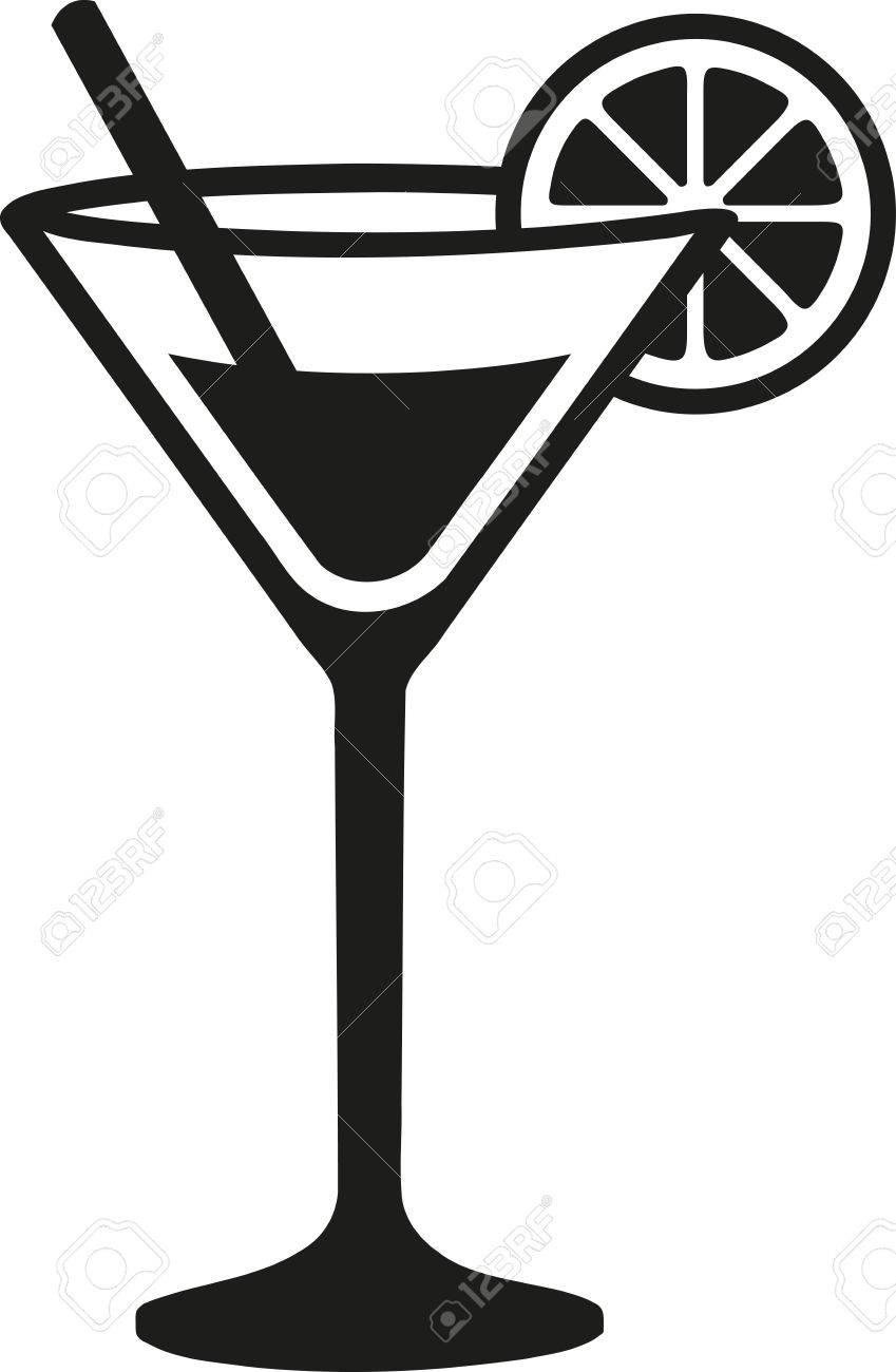 cocktail glass with lime royalty free cliparts vectors and stock rh 123rf com cocktail glass clipart free clipart cocktail glass silhouette