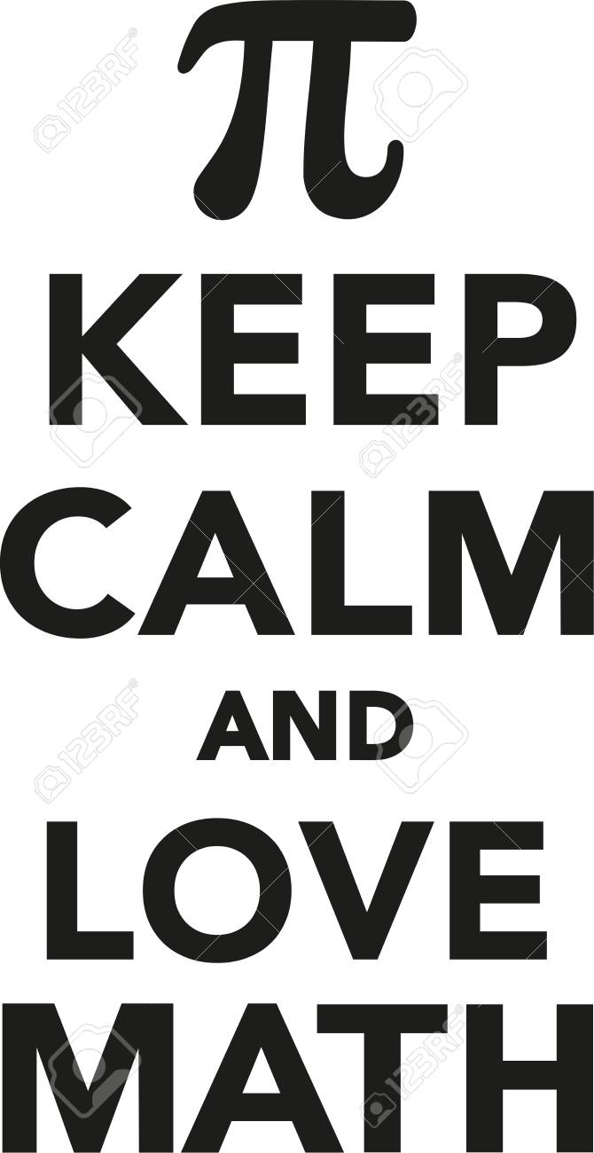 keep calm and love math royalty free cliparts, vectors, and stock