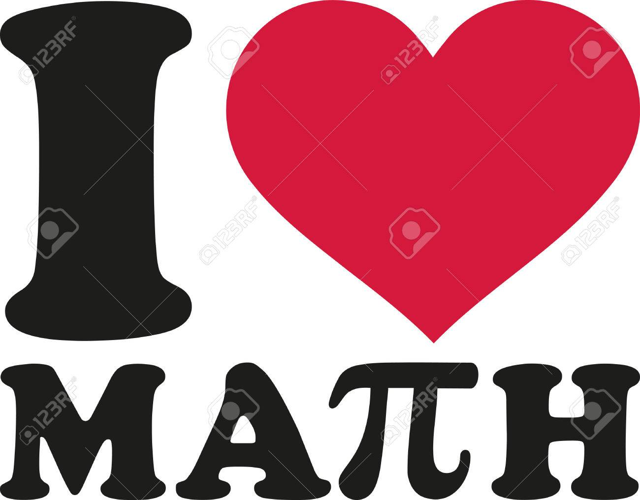 i love math with pi sign royalty free cliparts, vectors, and stock