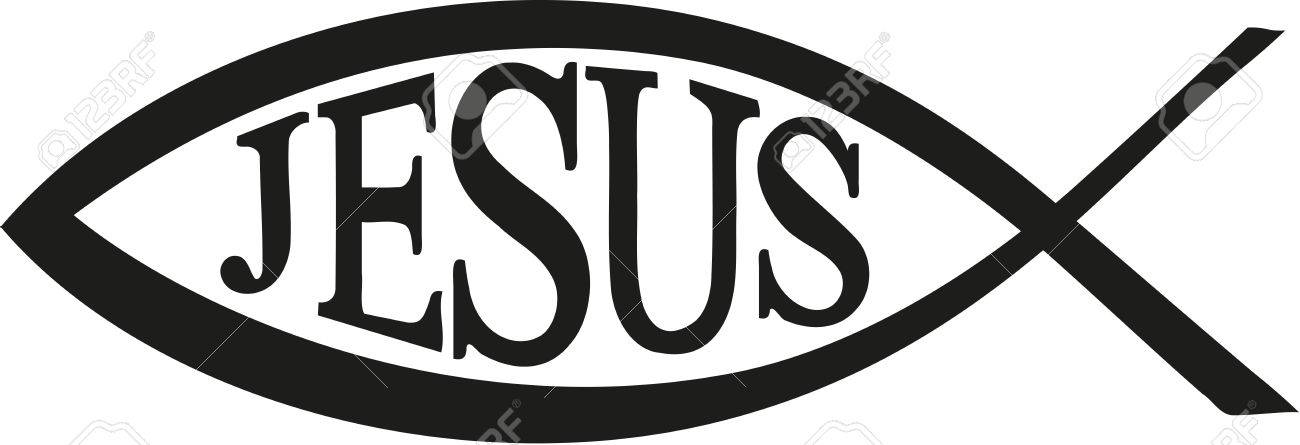 jesus fish christian with word jesus royalty free cliparts vectors rh 123rf com  jesus fish vector free download