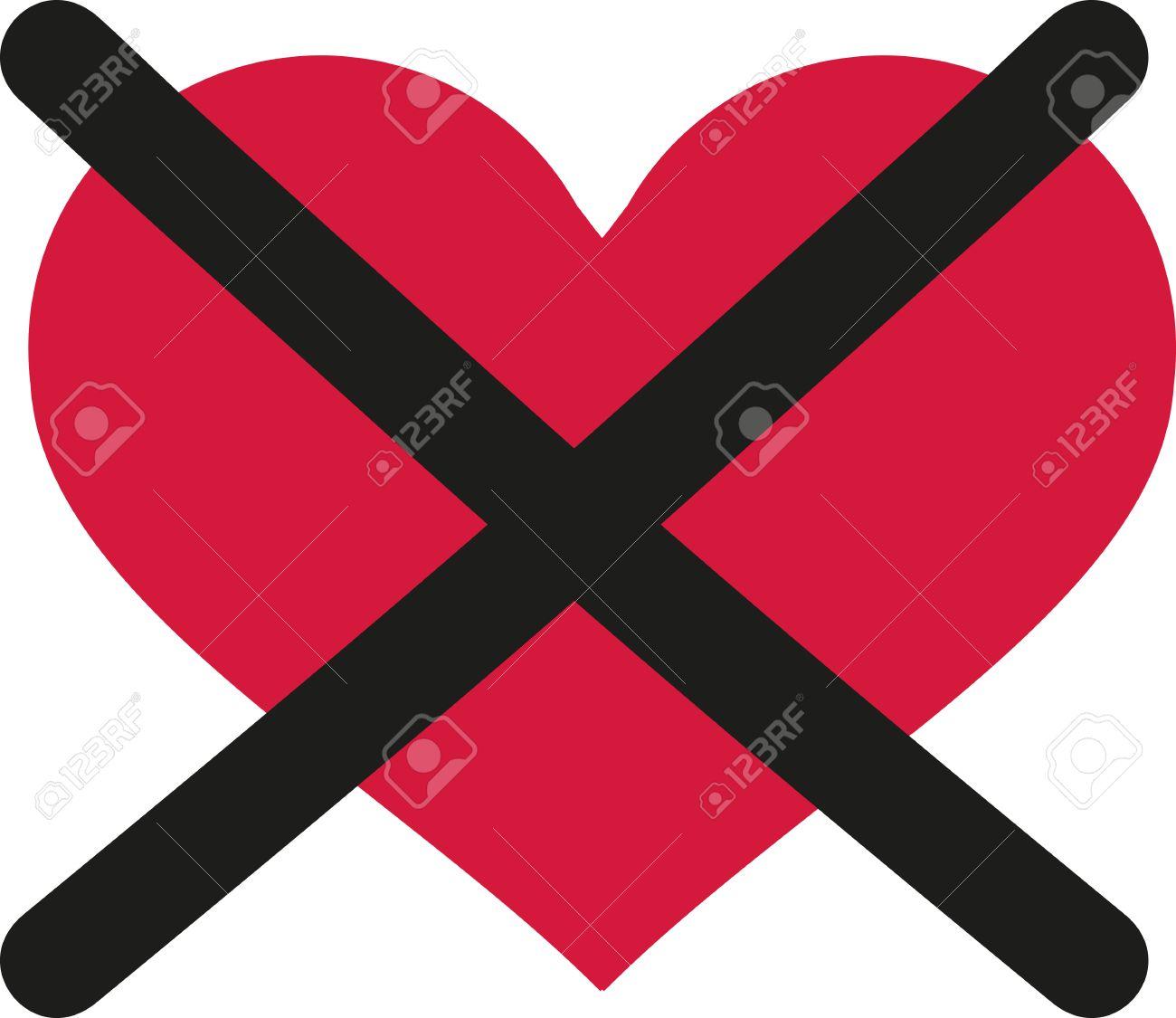 no love heart crossed out royalty free cliparts vectors and rh 123rf com Baseball Bat Vector Logo Baseball Bat Clip Art