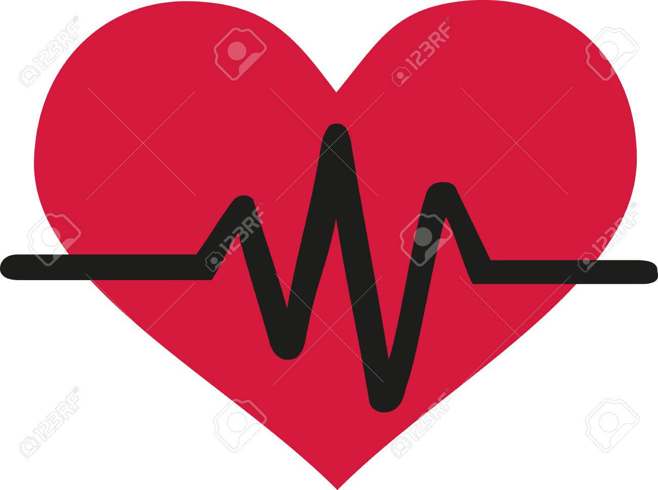 Line Art Love Heart : Heart beat line royalty free cliparts vectors and stock