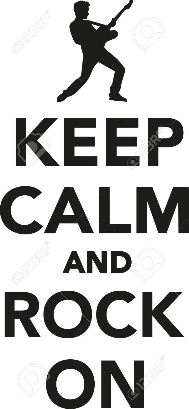 keep calm and rock on royalty free cliparts vectors and stock rh 123rf com keep calm logo templates keep calm logo maker