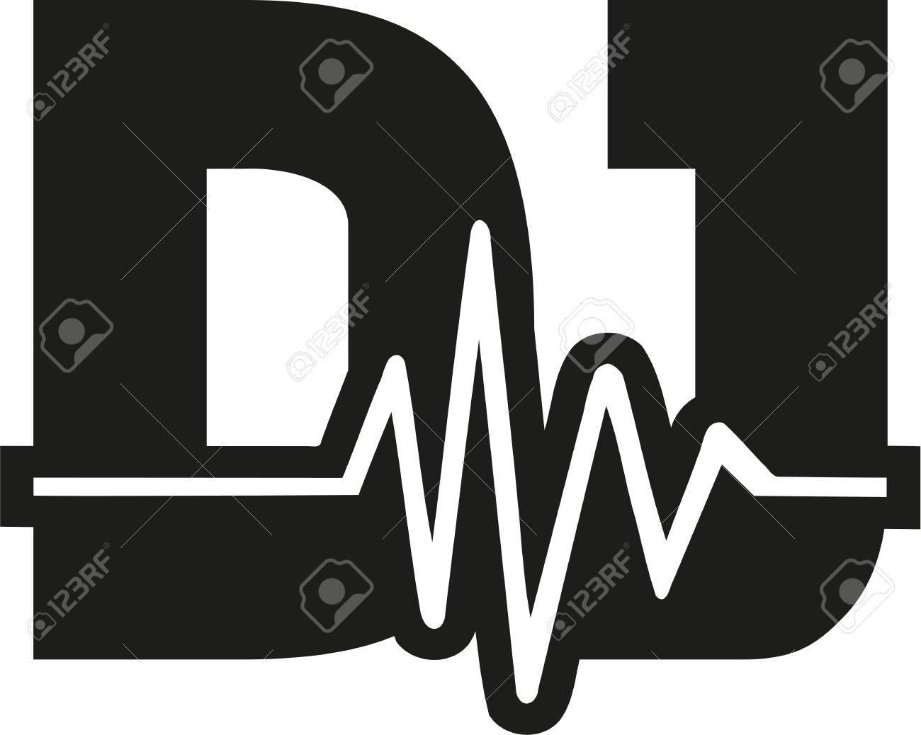 dj word with soundwave royalty free cliparts vectors and stock rh 123rf com dj victoria dj vectors free download