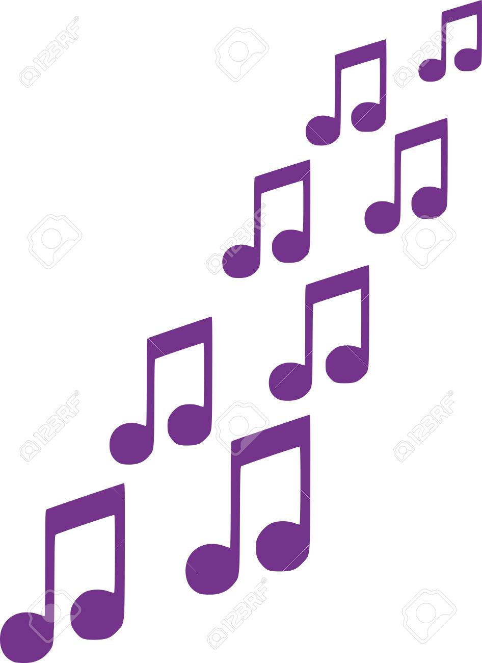 music notes flying up royalty free cliparts vectors and stock rh 123rf com Music Note Clip Art White Music Note Vector