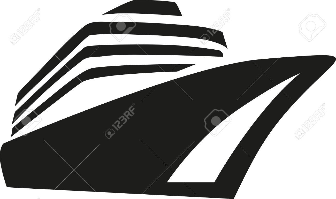 Cruise Ship Liner Stock Vector