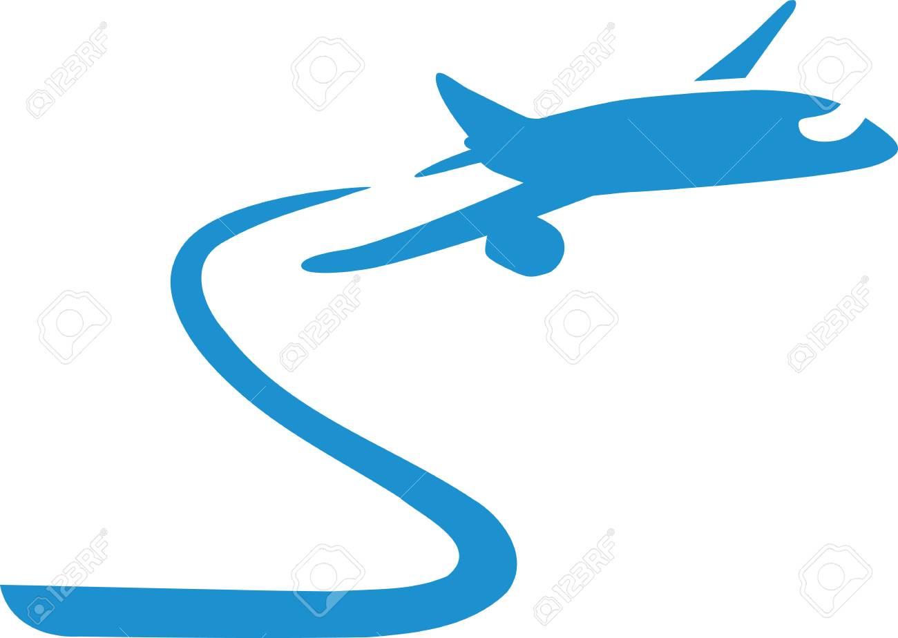 飛行機雲と飛行機のイラスト素材ベクタ Image 59635823
