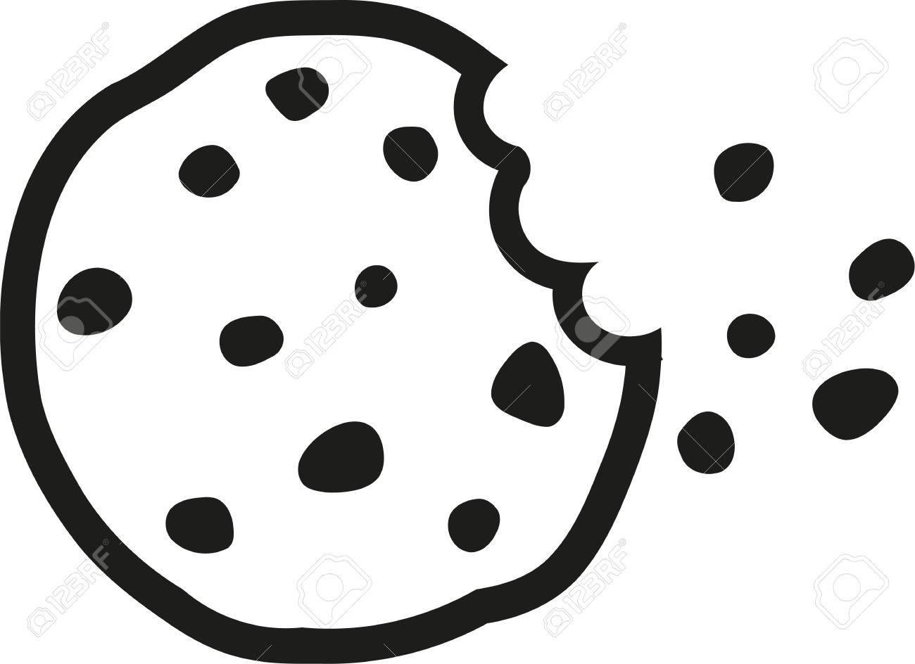Chocolate chip cookie a bite taken - 59635934