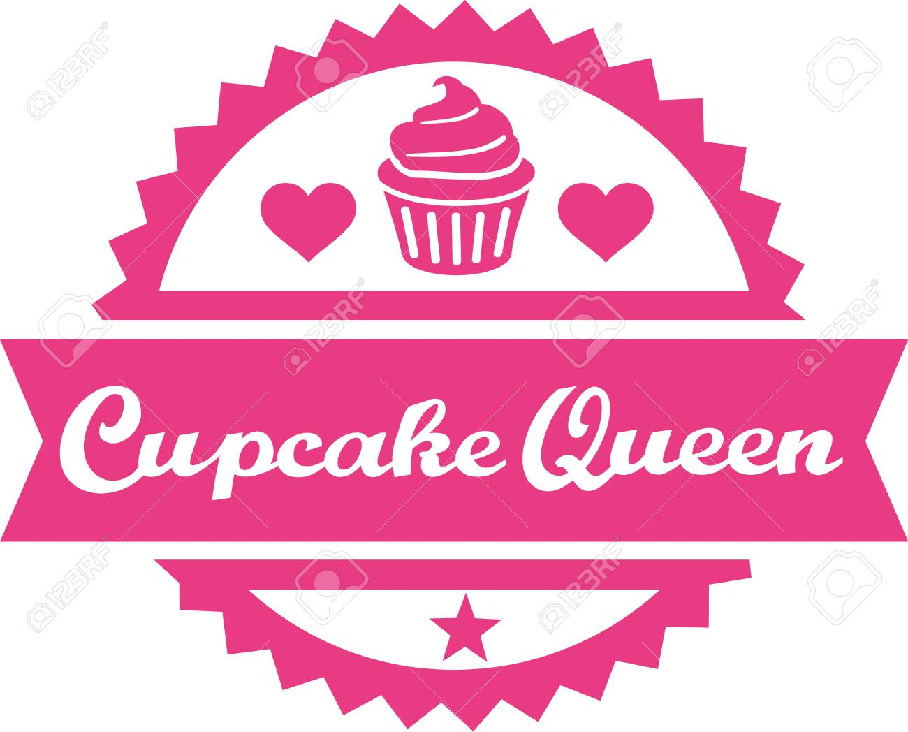 cupcake queen royalty free cliparts vectors and stock illustration
