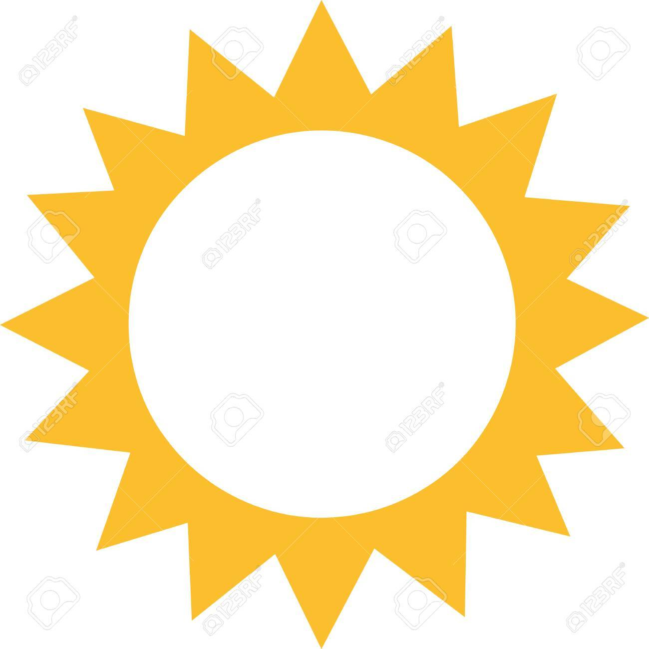 sun icon with just sunrays royalty free cliparts vectors and stock rh 123rf com
