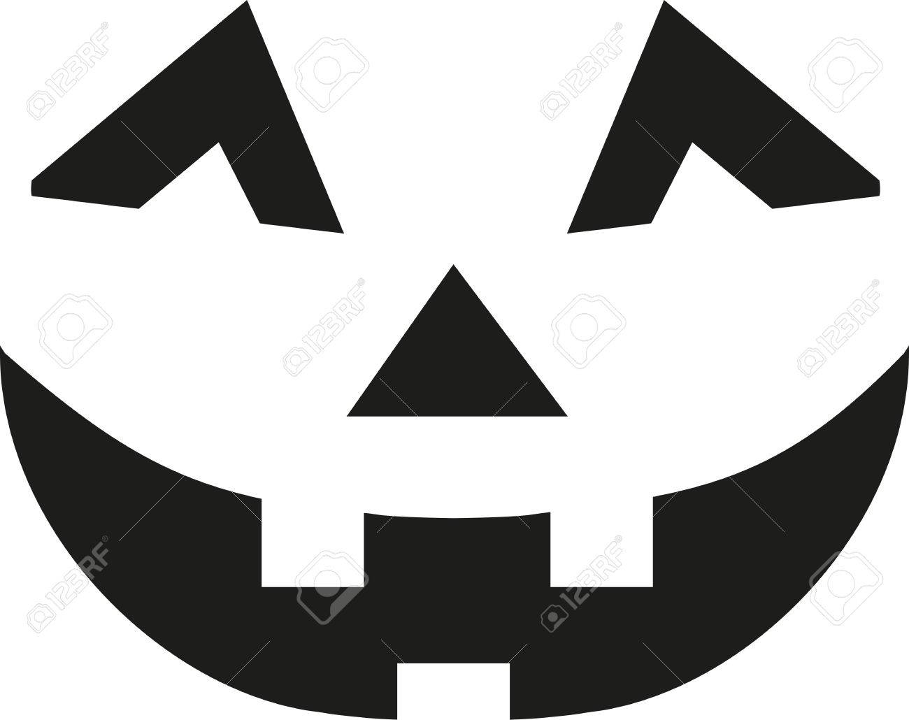 Halloween Pumpkin Face Royalty Free Cliparts, Vectors, And Stock ...