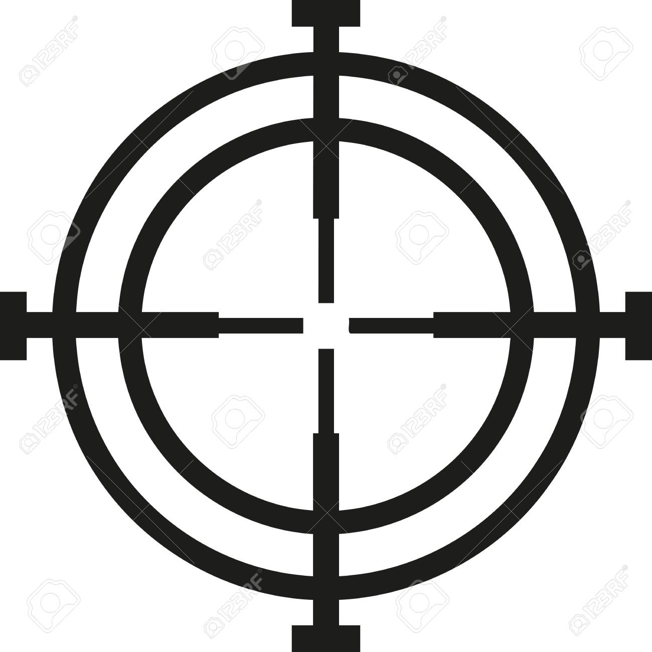 crosshair hunter reticle royalty free cliparts vectors and stock rh 123rf com crosshair vector free crosshair vector free