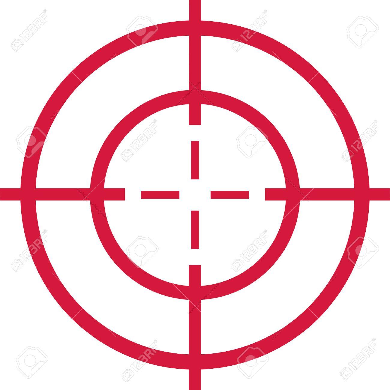 赤いターゲット - 十字 ロイヤリ...