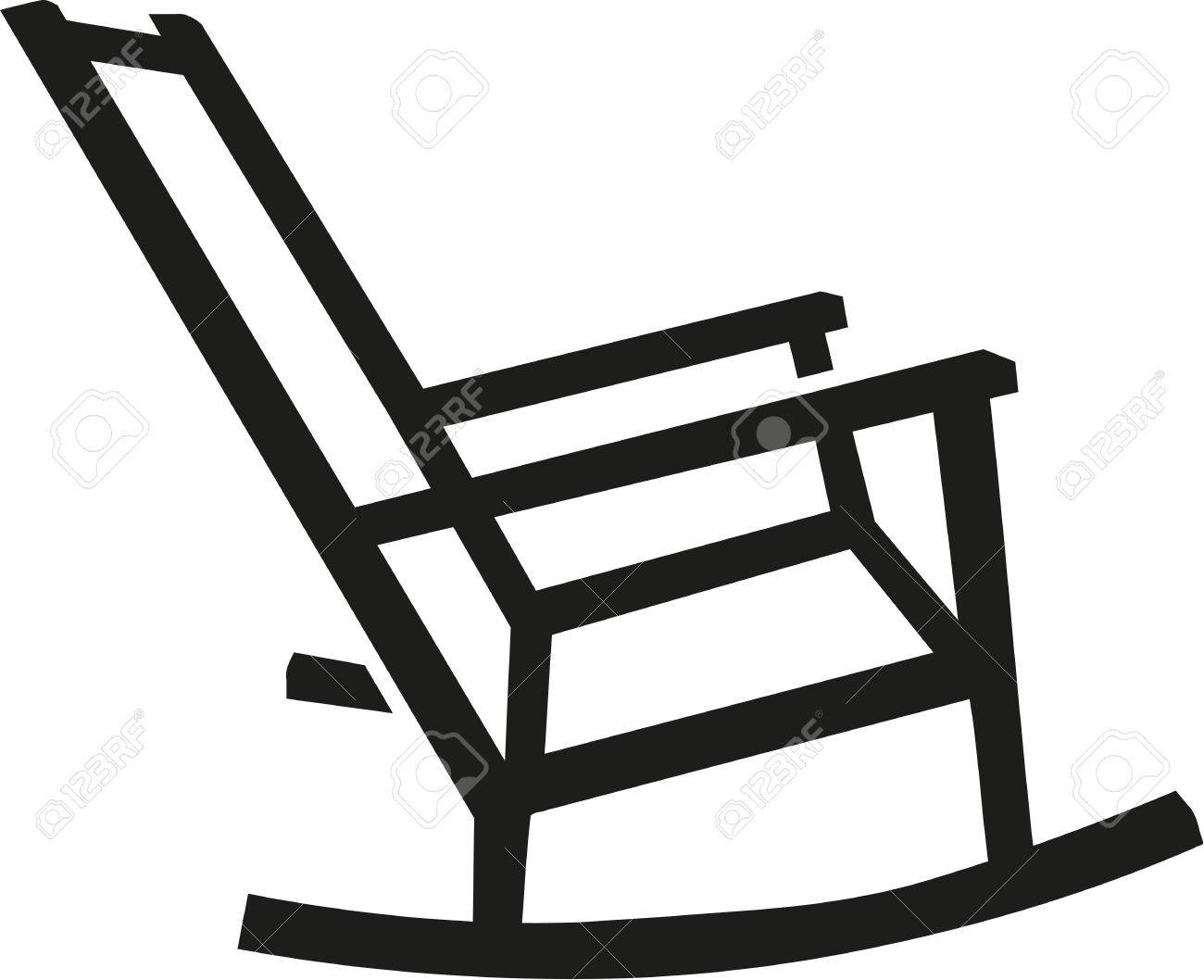 Rocking Chair Silhouette Royalty Free Cliparts Vectors And Stock