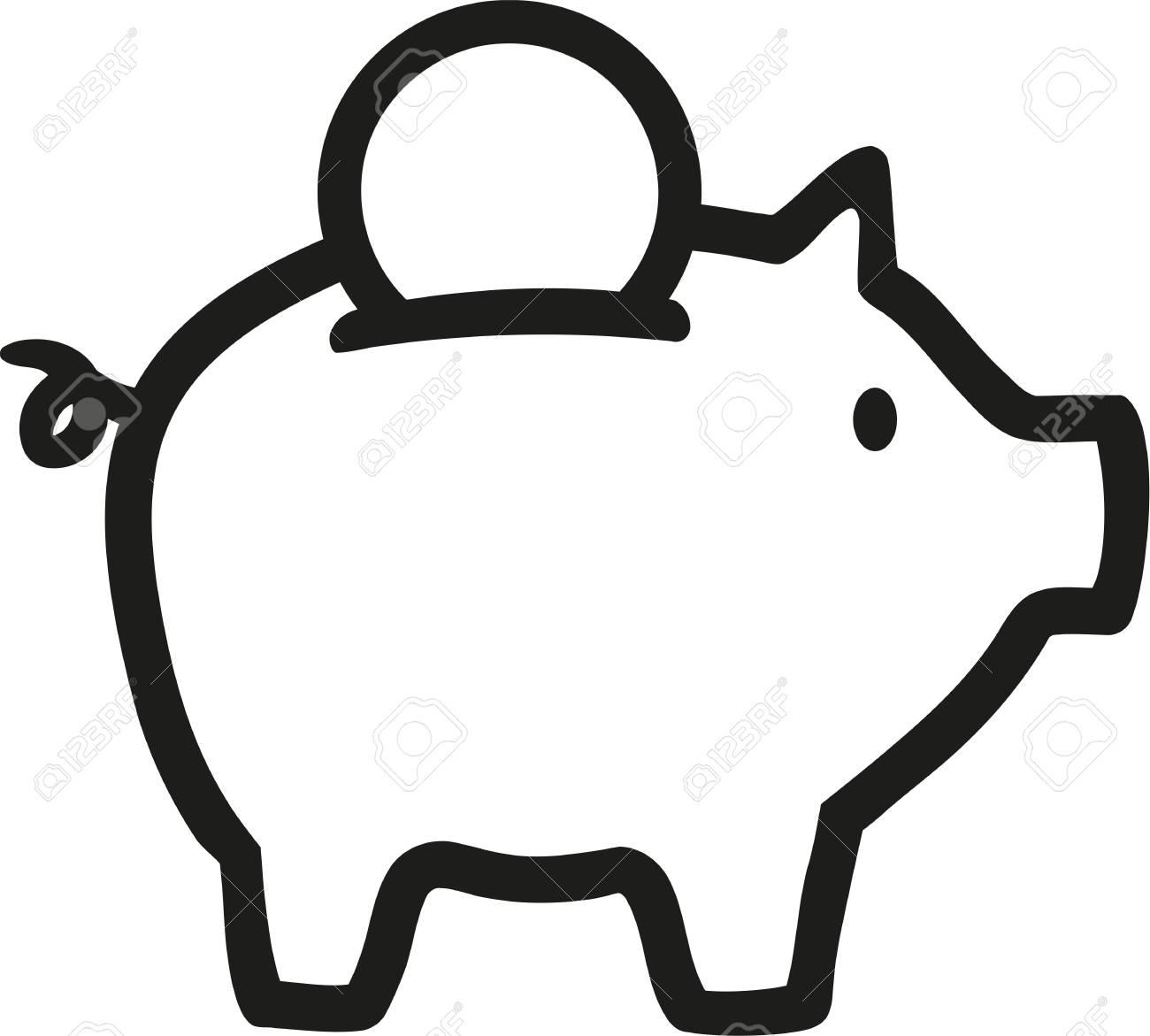 Piggy Bank icon - 64100712