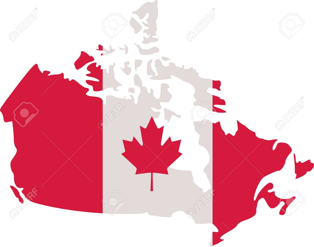 Map Of Canada Jpg.Canadian Map With Canada Flag